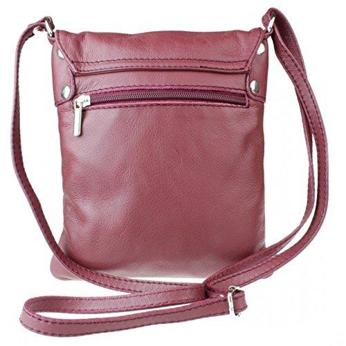 Cross Leather bag Shoulder bag Large Genuine Italian Pelle Messenger body Vera wpxWfOq
