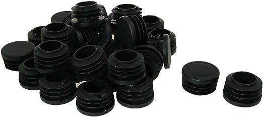 uxcell 1 1//8 1.18 OD Plastic Round Tube Insert Glide End Cap Pad 32pcs 1.06-1.44 Inner Dia for Furniture Deck Protector Move Convenient Prevent Scuff