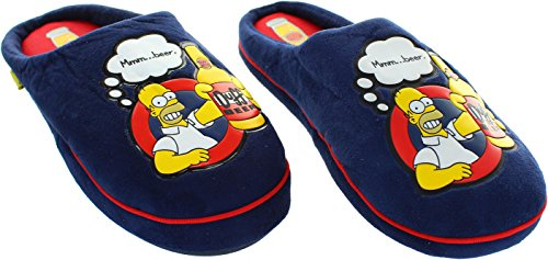 The Simpsons  Ex-display Mmmbeer, Chaussons pour homme bleu bleu