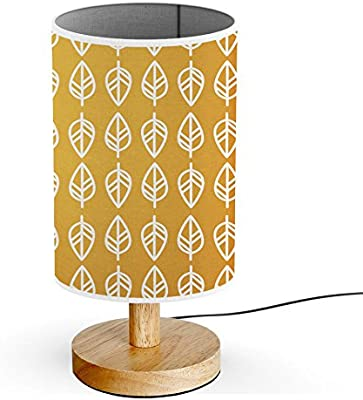 ArtLights - Wood Base Decoration Desk/Table/Bedside Lamp [ Retro Mustard Yellow ]