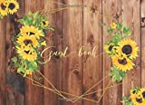 Guest Book: Rustic Sunflower Attendee Sign In