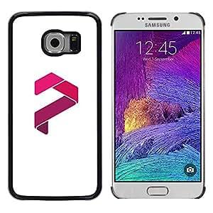 Be Good Phone Accessory // Dura Cáscara cubierta Protectora Caso Carcasa Funda de Protección para Samsung Galaxy S6 EDGE SM-G925 // red stripe