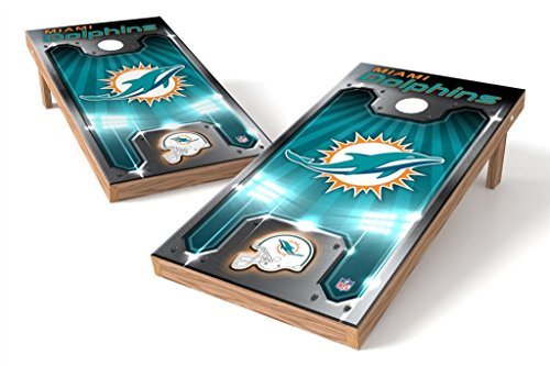 PROLINE NFL Miami Dolphins 2'x4' Cornhole Board Set - Plate - Tailgating Dolphins Miami Nfl