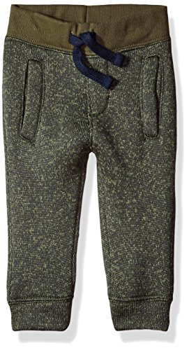 Gymboree Baby Boys Sweater Fleece Joggers, Olive Night, 6-12 (Baby Fleece Pant)