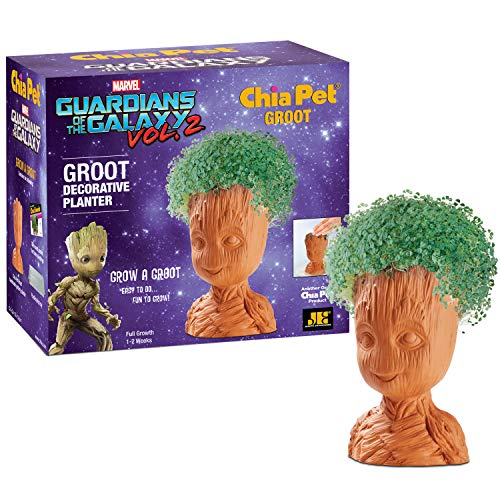 Chia Pet Groot with Seed Pack, Decorative Pottery Planter, Easy to Do and Fun to Grow, Novelty Gift, Perfect for Any Occasion ()