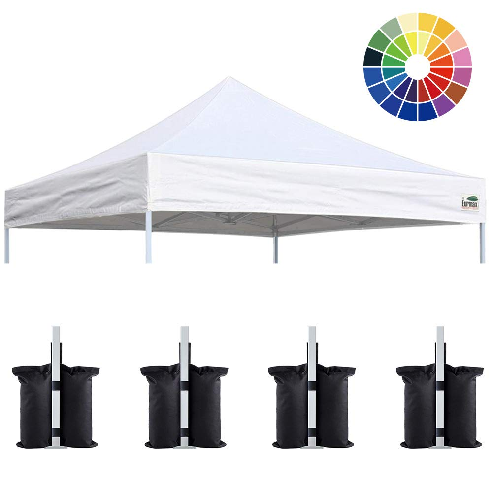 Eurmax New Pop up 10×10 Replacement Instant Ez Canopy Top Cover Choose 15 Colors White