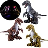 3Pcs Dinosaur Toys Light Up, Realistic Dinosaur Figures Wind Up Walking Educational Dinosaur Toy for Boys Girls Toddlers Dinosaur Party Supplies, Birthday Party Favors