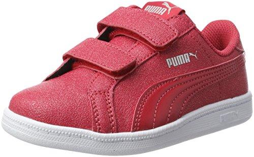 Puma Smash Glitzsl V Ps, Zapatillas Unisex Niños Rojo (Toreador-toreador)