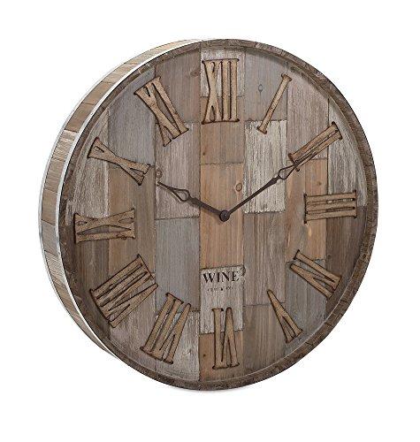 wine barrel wall clock - 3