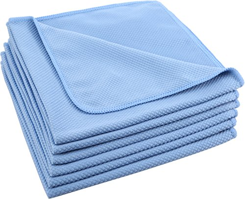 Pro Chef Kitchen Tools Stainless Steel Microfiber Cloth Towel Set - 6 Cloths for Streak Free Cleaning Car Window, Glasses, Touch Screens, Phone, Tablet, Laptop, Monitor TV, Bathroom Mirror, Shower