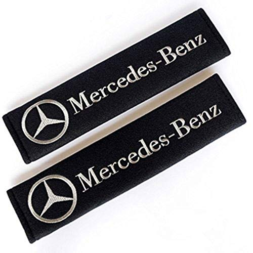 - Fitracker 1 Pair Car Seat Belt Shoulder Pads Embroidery Strap Covers Cushion for Mercedes Benz