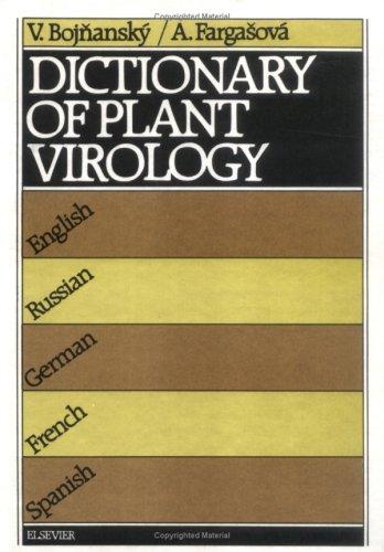 Descargar Libro Dictionary Of Plant Virology V. Bojnansky
