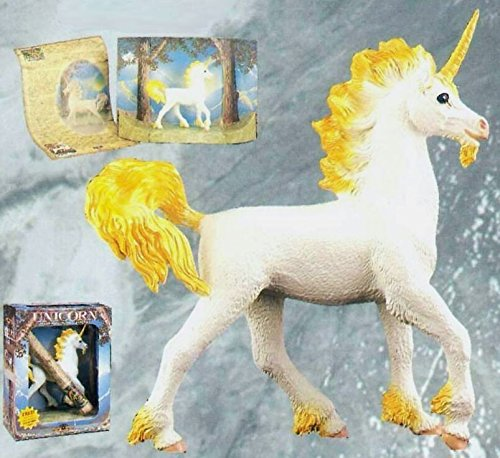 Unicorn Figure with Panoramic Scroll Fantastic Myths and Legends Shadowbox 8