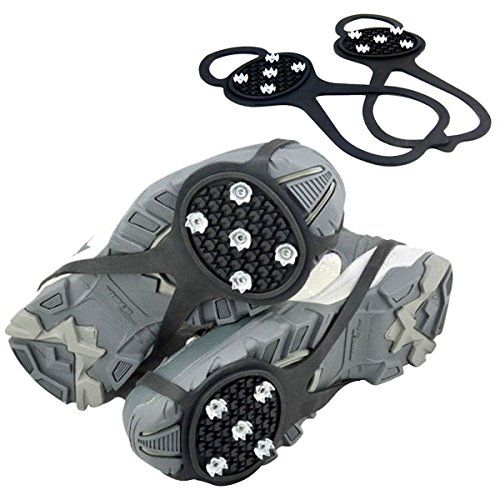 Natuce Ice Grippers Non Slip Ice and Snow Grips Universal (Sarken Crampons)