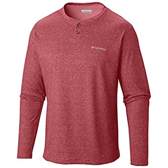 Columbia 1562851611 Thistletown Park Henley for Men, Red Element Heather - 2 Extra Large