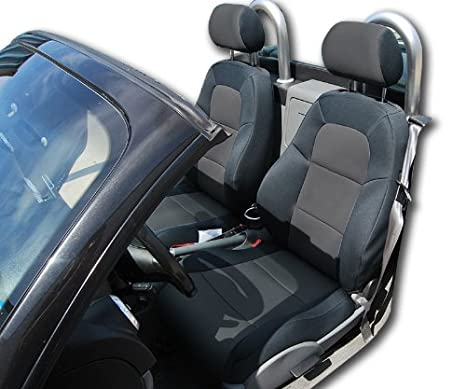 Audi TT Black//Chacoal Artificial leather Custom fit Front seat cover