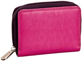Visconti RB53 Multi Colored Berry/Purple/Dusty Pink Small Bifold Soft Leather Ladies Wallet & Purse
