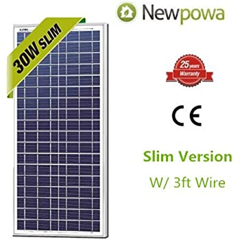 30w Watts Newpowa 12v Poly Solar Panel Module Rv Marine Boat Off Grid