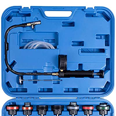NuaDua Car Radiator Pressure Tester and Vacuum Type Cooling System Purge Refill Kit 28pcs with Case: Home Improvement