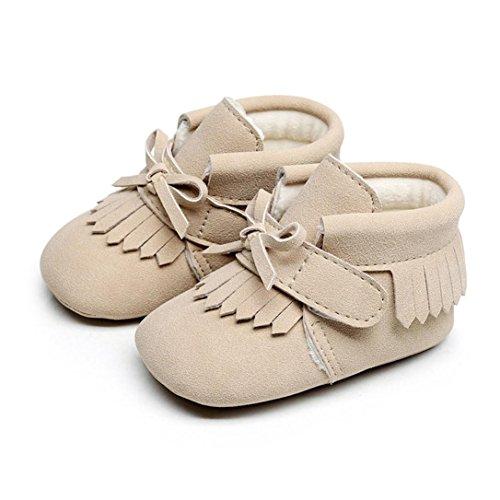 Baby Warm Shoes, Toddler Newborn Baby Boys Girl Crib Winter Boots Prewalker (0~6 Month, Khaki)