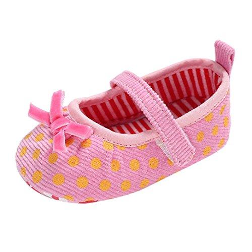 cinnamou Babyschuhe Baby Mädchen Jungen Soft Sole Schuhe Sneakers Casual Süße Leopard Anti-Rutsch-Babyschuhe Krippeschuhe Strandschuh (6-12 Monate, Rose) Rose