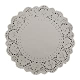 DECORA 7.5 inch White Round Paper Lace Doilies for Wedding Tableware Decoration 200pcs