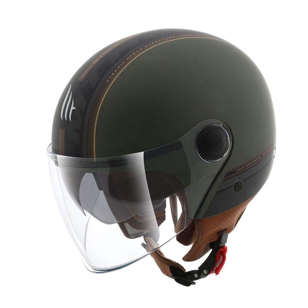 雑誌で紹介された オートバイ二重レンズ、レトロポータブルハーフヘルメット、冬の暖かい男性と女性のハーフカバー、パーソナリティクールハレーヘルメット (色、四季ユニバーサル、青粉、XLコード M) (色 Vert : Vert foncé, サイズ さいず : M) B07K6JY711 Vert foncé Medium, 胆沢郡:464955ca --- a0267596.xsph.ru
