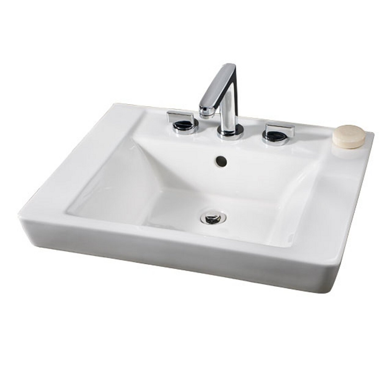 American Standard 0641.001.020 Boulevard Single Hole Pedestal Sink Basin,  White     Amazon.com