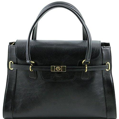 Tuscany Leather - TL NeoClassic - Bolso a mano en piel Negro - TL141230/2 Negro