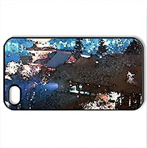 Kiyomizu Temple - Case Cover for iPhone 4 and 4s (Watercolor style, Black)