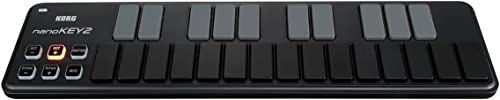 front facing korg 25-key midi controller keyboard