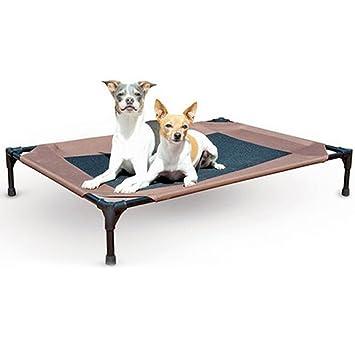 Zantec® - Cama para Mascotas elevada, portátil, de Malla, Transpirable, para