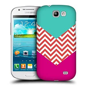 Bloutina Head Case Turquoise Hot Pink Block Chevron Case For Samsung Galaxy Express I8730