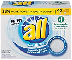 all Powder Laundry Detergent, Free Clear...
