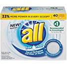 all Powder Laundry Detergent, Free Clear, 52 Ounce, 40 Loads