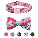#7: Pet Soft&Comfy Bowtie Dog Collar and Cat Collar Pet Gift For Dogs and Cats Adjustable Pure Cotton Collars 6 Sizes and 5 Patterns