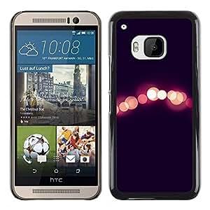 FlareStar Colour Printing Lights Night City Black Peach Blurry cáscara Funda Case Caso de plástico para HTC One M9