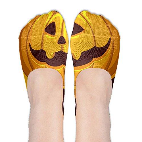 Black Jack O Lantern Polyester Cotton Deodorant Boat Socks Non Slip Socks For Women ()