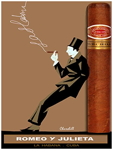 Quality poster in Paper or Canvas.Cuban cigar ad.Romeo y Julieta ()