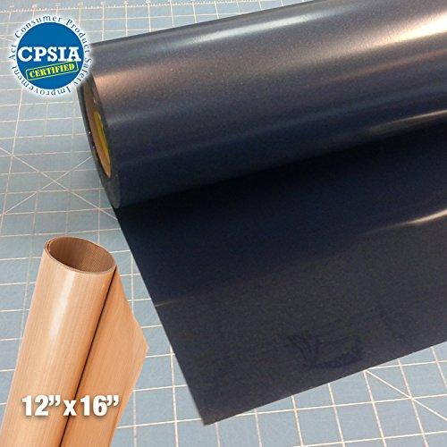 Siser Easyweed Navy Blue Heat Transfer Craft Vinyl Roll (100ft x 15'' Bulk w/ Teflon roll) by Siser