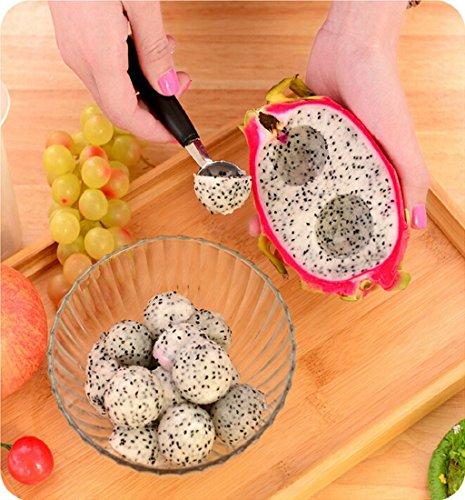 Melon Ball (Mikey Store Melon Baller Fruit Slicer,Stainless Steel Fruit Spoon To Dig the Ball,Fruit Carving Knife, Fruit Slicer, Dessert spoon,Kitchen Tool)