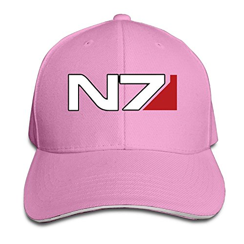 Price comparison product image K-Fly2 Unisex Adjustable Mass Effect N7 Baseball Caps Hat One Size Pink