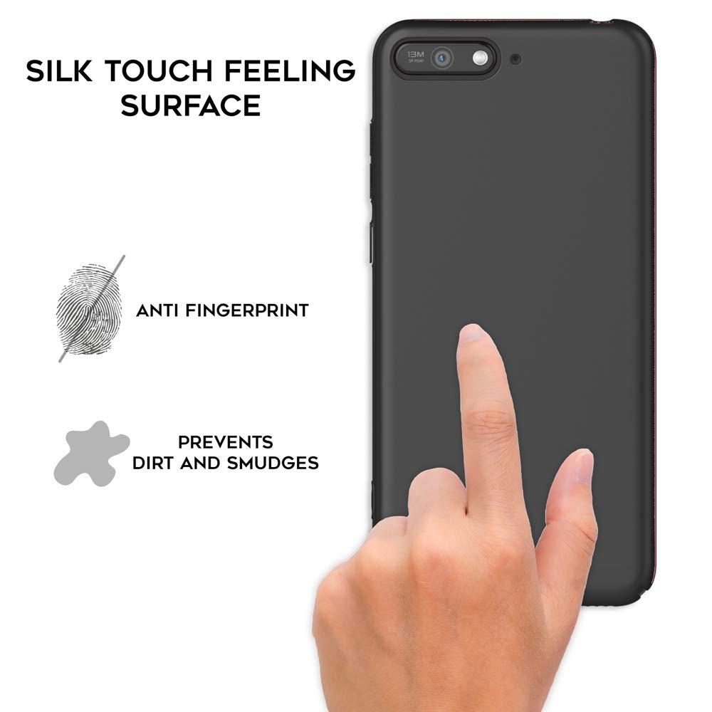 NALIA Coque Compatible avec Huawei Y6 Ultra-Fine Housse Protection Rigide Slim Smart-Phone Back-Cover en Look M/étal Telephone Portable Etui Mince Hard-Case Bumper Facile Couleur:Rose Gold Or 2018