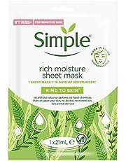 Simple Rich Moisture Sheet Mask, voor het hydrateren van de droge huid - 1 stuk