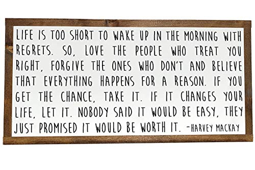 Dr Seuss Signs (Life Is Too Short, Worth It Quote, Harvey Mackay Quote, Dr. Seuss Quote, Farmhouse Family)
