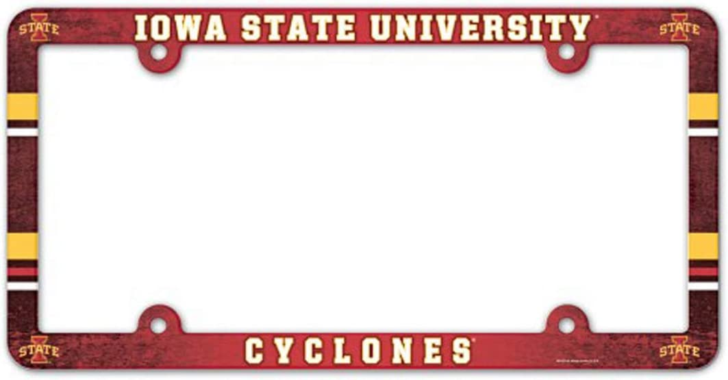 WinCraft NCAA Iowa State University 89789012 LIC Full Color Plate Frame