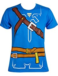 Zelda Breath of the Wild Cosplay Mens T-shirt (X-Large)