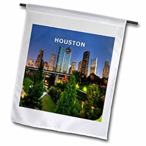Florene America The Beautiful - City Of Houston Texas - 18 x 27 inch Garden Flag (fl_80807_2)