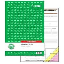 """sigel Formularbuch """"Bautagebuch"""", A4, 3 x 40 Blatt, SD"""