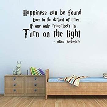 Albus Dumbledore Harry Potter Movie Quote Vinyl Wall Decal (12x20, Black)